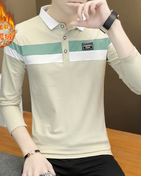 All-match autumn and winter T-shirt thick shirts for men