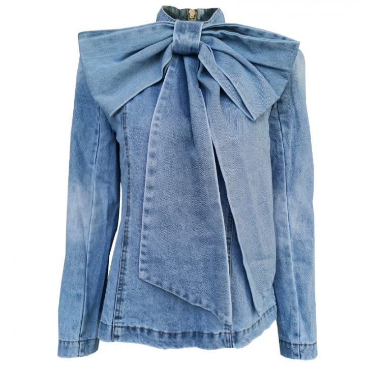 Catwalk All Match Shirt Back Zip Denim Tops For Women Yw74465 Yaaku Com