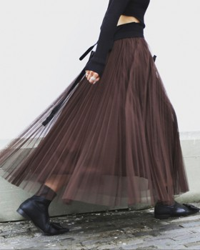 Lady big skirt all-match multilayer skirt for women