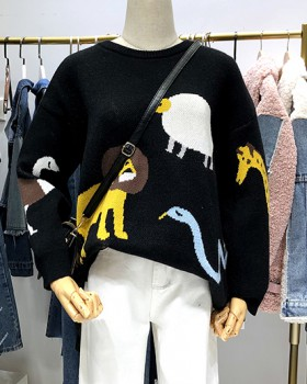 Bottoming knitted sweater Korean style wears outside tops