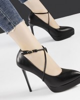 Fine-root sexy high-heeled shoes pointed slim sandals
