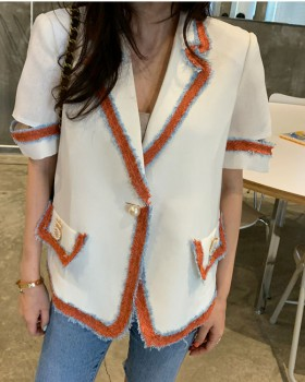 Short sleeve Korean style light summer ladies fashion jacket