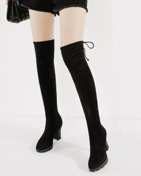 Slim sexy thigh boots high-heeled pointed boots for women