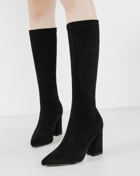 European style long tube boots slim sexy thigh boots
