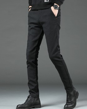 Youth thick casual pants business plus velvet long pants