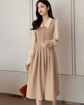 Autumn and winter France style long sleeve dress for women