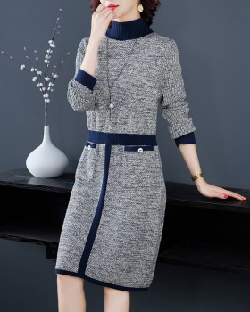 Long temperament dress blending autumn long dress for women