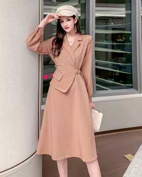 Temperament autumn long sleeve slim dress for women