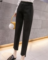 Loose high waist harem pants woolen nine tenths pants