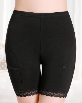 Medium waist anti emptied pants lace leggings