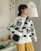 Pullover thermal dairy cow thick sweater