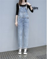 European style Korean style jumpsuit denim autumn bib pants