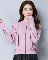 Loose long sleeve sweater round neck bat shirts for women