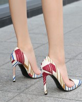 Mixed colors European style high-heeled shoes large yard shoes