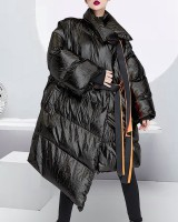 Loose thick coat personality cotton coat for women