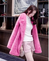 Temperament long autumn and winter coat rose bear fur coat