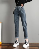 High waist jeans harem carrot pants for women