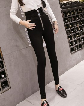 Black feet leggings elasticity long pants for women