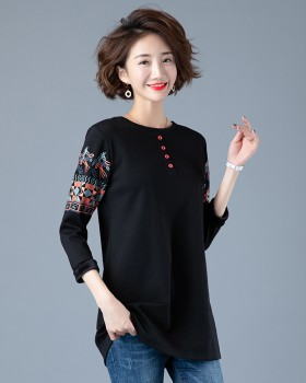 Pure cotton bottoming shirt Korean style tops for women