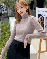 Korean style high collar bottoming shirt for women