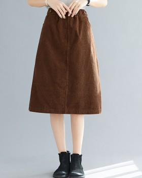 Autumn and winter corduroy art skirt for women