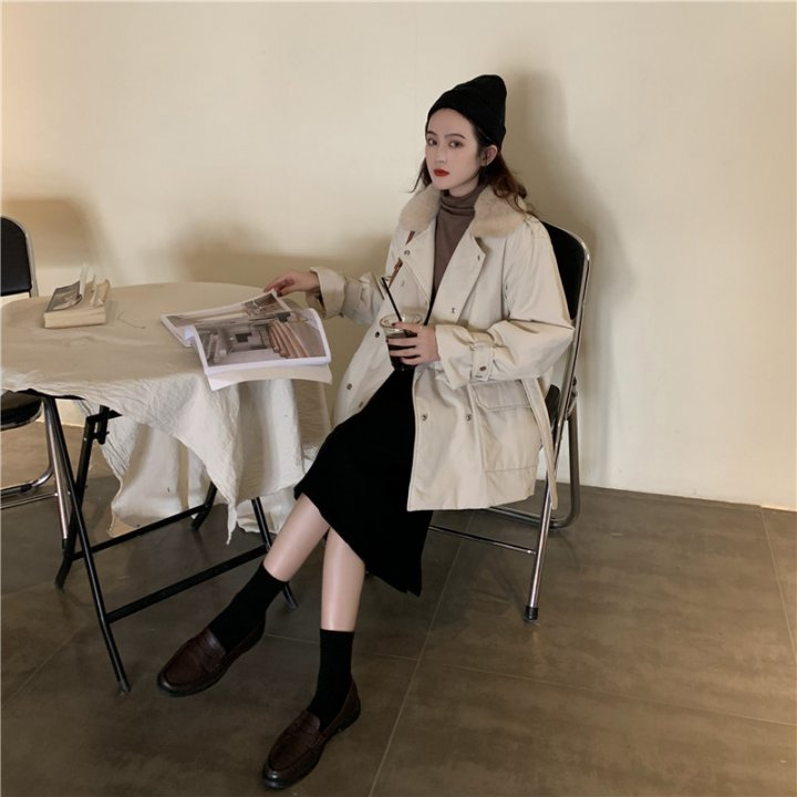 All-match Korean style coat thick thermal cotton coat