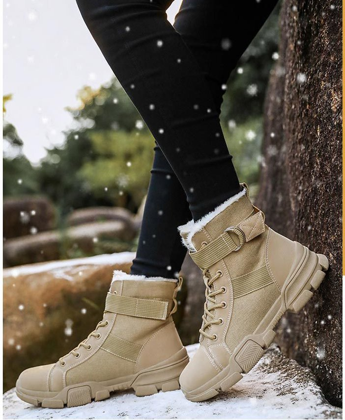 Handsome all-match shoes broadcloth boots for women