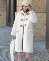 Autumn and winter imitation lamb's wool coat for women