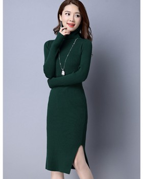 Package hip spring and summer long skirt autumn knitted dress