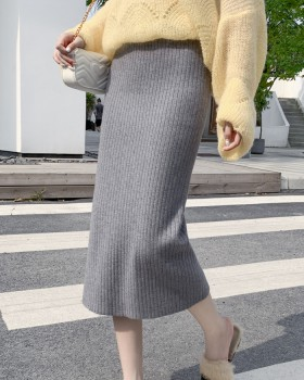 All-match winter split thick autumn and winter skirt for women