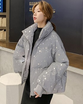 Slim thick down cotton coat winter glossy coat for women