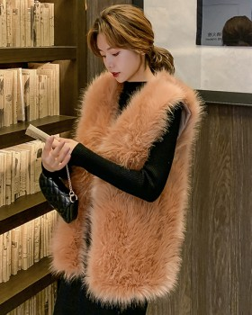 Slim fluffy vest autumn and winter waistcoat for women