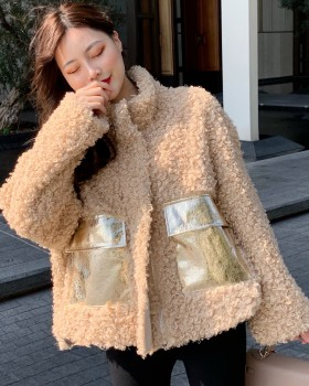 Winter temperament fashion all-match thermal loose coat