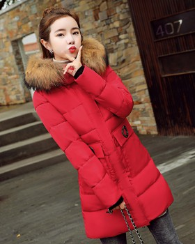 Long loose Korean style cotton coat thick down coat for women