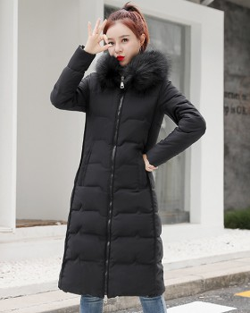 Large yard slim loose cotton coat thick winter coat for women