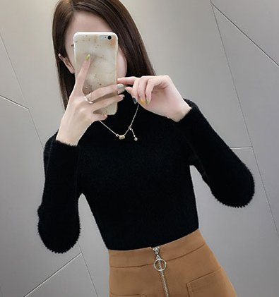 Knitted long sleeve bottoming shirt pullover sweater