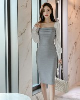 Slim profession dress autumn and winter formal dress