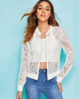 European style perspective lace sexy jacket for women