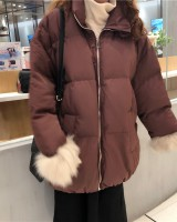 Real gross all-match thick coat thermal winter cotton coat