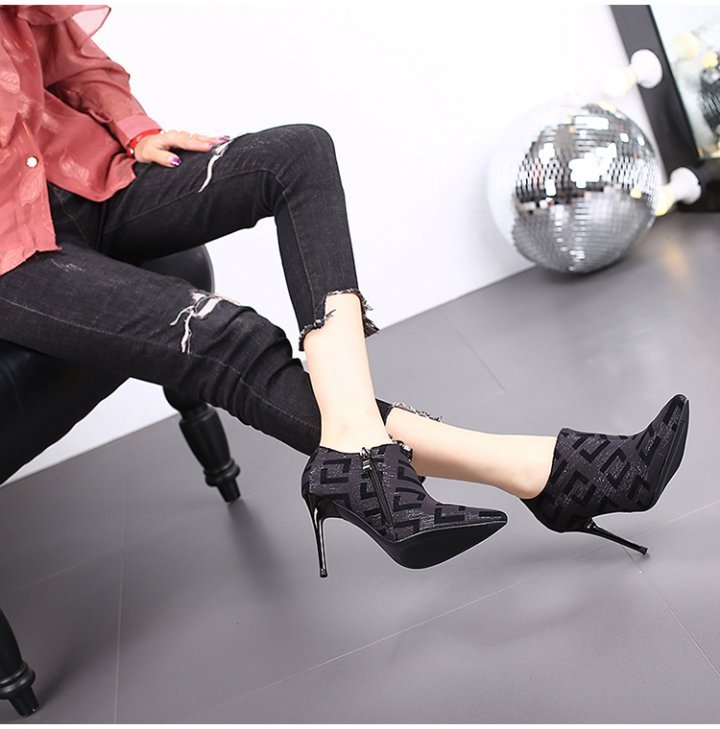 All-match ankle boots small high-heeled shoes for women