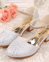 Crystal girl leather shoes little girl shoes for women