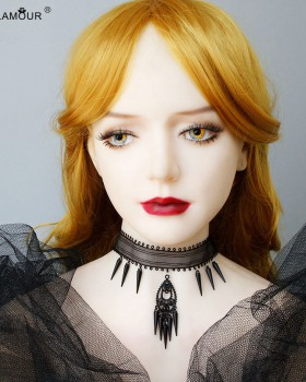 Gauze vampire necklace prom short clavicle necklace