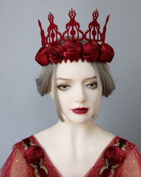 Queen role-play christmas imperial crown prom headband