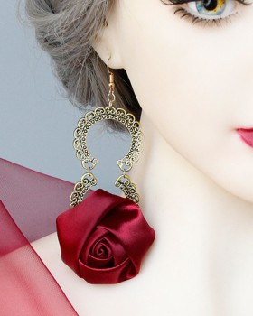 Bride party prom ear-drop gift rose christmas earrings