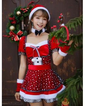Party lovely Asian style hat sweetheart winter Gloves 5pcs set