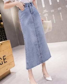 Denim Casual simple skirt spring generous long skirt