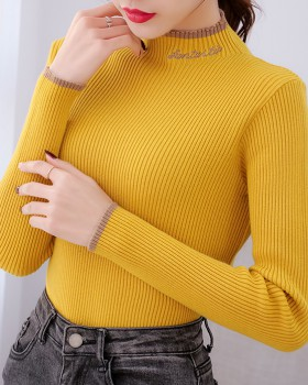 Western style bottoming shirt sweater for women