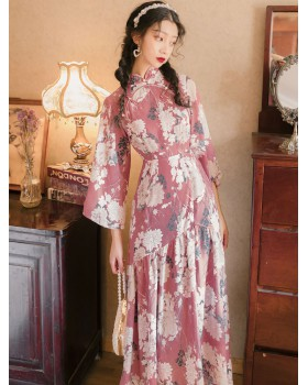Maiden dress light cheongsam