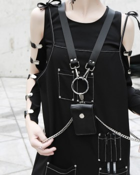 Round modeling chain removable strap cross packet