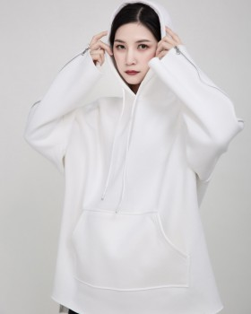 Thick pure autumn and winter plus velvet hooded hoodie for women